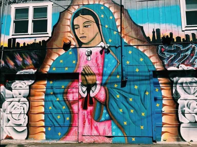 Lilac Alley Mural in Mission District San Francisco
